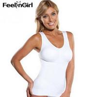 Wholesale bra lift shaper resale online - FeelinGirl Shaper Slim Up Lift Plus Size Bra Cami Tank Top Women Shaper Removable Underwear Slimming Vest Corset Shapewear