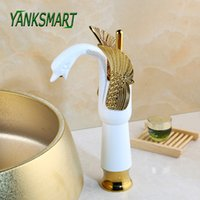 Wholesale brass swan taps for sale - Group buy Antique Brass Gold Chrome ORB Black Swan Faucet Bathroom Washbasin Sink Tall Deck Mounted Tap Mixer Faucets