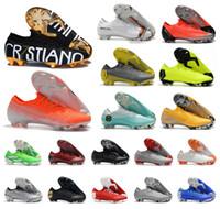 Wholesale vapor superfly resale online - New Men Mercurial Vapors XII Elite FG Superfly Vaporx VII CR7 NJR LVL UP Ronaldo Neymar Women Kids Soccer Football Shoes Size