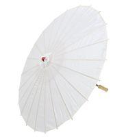 bambu asiático venda por atacado-HOT-Japanese Asian Traditional Bamboo Dancing Umbrella Parasol 78cm Branco
