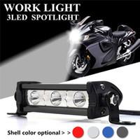 ingrosso ha condotto le strisce di illuminazione moto-Auto Led Light Work 9W 3led striscia della luce fuori strada del motociclo caldo