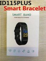bluetooth armbandanzeige großhandel-ID115 Plus Smart Wristband Farbdisplay Yoho Sports Bluetooth Wasserdichtes Herzfrequenz-Blutdruckmessgerät Fitness für Appleandroid