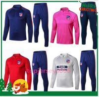 Wholesale tracksuits jacket online - 2018 atletico tracksuit soccer Training suit soccer wear adult GRIEZMANN F TORRES KOKE Madrid football jacket sets chandal
