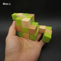 bildung spielzeug rätsel großhandel-Ahnen Drache Holzwürfel Puzzle Classic Education Toy