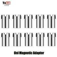 Wholesale vape magnets for sale - Group buy 100 Original Yocan Uni Magnetic Adapter Replacement Magnet Ring Connector For UNI Vape Box Mod Battery Atomizer Cartridges Authentic