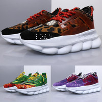 venta de cadenas para hombre al por mayor-Venta caliente zapatos de diseñador Reacción en cadena Zapatos para correr Para hombre Papá Zapatillas deportivas rojo negro bule púrpura Atlético mujer Casual zapatos deportivos