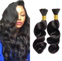Indian Hair Loose Wave Human Hair Bulk For Braiding 300g Human Braiding Hair Loose Wave Curly