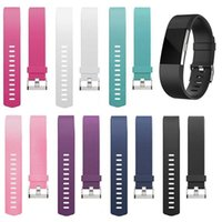 Wholesale fitbit charge accessories resale online - Silicone Replacement Wristband Sports Safety Wrist Support Band Strap for FitBit Charge Wrist Bracelet Metal Buckle Accessory