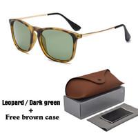 кожаный случай eyewear оптовых-Высокое качество Мужчины Женщины солнцезащитные очки Марка дизайнер солнцезащитные очки знаменитости очки UV400 линзы с бесплатные кожаные чехлы и коробки