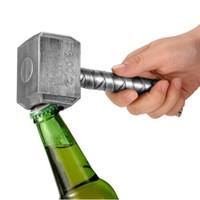 flaschenhammer großhandel-Silber Bier Flaschenöffner Multifunktions Hammer Of Thor Shaped Bier Flaschenöffner Mit Langgriff Flaschenöffner Bier