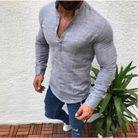 camisas de cuello blanco para hombres al por mayor-2019 Diseñador de Verano Camisetas Para Hombres Tops Sólido Blanco Negro Azul Colores Camiseta para hombre Ropa Marca Camiseta de manga corta S-3XL Tees