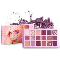 ingrosso kit trucco glitter-18 colori matte shimmer glitter ombretto impermeabile pigmentato intercambiabile ombretto nudo kit di trucco palette di bellezza TSLM1