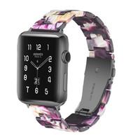 reçine şeritleri toptan satış-Apple watch band Lüks tasarımcı Klasik Basit Moda Reçine İzle şerit Apple İzle 1 2 3 4 serisi fantezi band 20 22mm