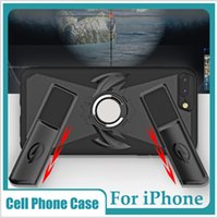 Wholesale gaming cases for sale - Gamer Gamepad Case Bracket Car Kickstand Magnetic Cover For Iphone X Plus S Game Controller Shell Ring Handle Gaming Grip