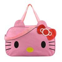 organizatör posta çantaları toptan satış-Hello Kitty kadın Seyahat Çantası kızın Sevimli Haberci Çanta Giyim Depolama Organizer Omuz Aksesuarları Malzemeleri Ürün