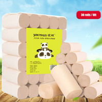 Wholesale Bamboo And Wood Fiber Toilet Paper Natural Unbleached And No Added Four Layer Rolled Paper Daily Necessities HL1001