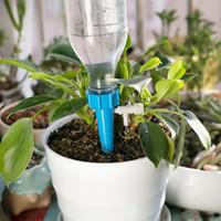 su şişesi sulama sivri uçları toptan satış-Otomatik Damla Sulama Sulama Sistemi Bitkiler için Otomatik Sulama Başak Çiçek Kapalı Ev Suları Şişe Damla Sulama Ayarlanabilir