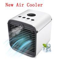 refrigeradores elétricos venda por atacado-Os ventiladores elétricos do pulverizador de ar dos refrigeradores de ar três em um sete cores mudam o tamanho do mini fácil transportar L-4