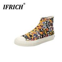 düşük tuval çizmeleri toptan satış-Popüler Erkekler Tuval Ayak Bileği Çizmeler Marka Erkekler Gençlik Rahat Ayakkabılar Yüksek Üst Kanvas Ayakkabılar Ka ...