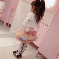 pantalones cortos de camuflaje de las niñas al por mayor-Camuflaje para niños Faldas de tutú de niña pequeña Ropa de diseñador Ropa de vestir Dos Princesa Vestido de Gasa Suave Bebé Falda Torta Corta 19