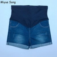 Wholesale cotton summer maternity clothes for sale - Group buy Summer Denim Maternity Shorts For Pregnant Women Clothing Pregnancy Clothes Short Jeans Maternidade Pants Gravida New