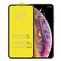 iphone filmabdeckungen großhandel-9D Full Cover Hartglas Displayschutzfolie für iPhone XS MAX X XR 8 7 6 Plus Samsung A20 A40 A50 A70