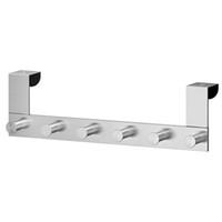 бар для ванной комнаты оптовых-Hanger Bar Hook Clothes Hat Removable Bathroom Stainless Steel Door Back Rack