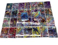 paquete de tarjetas de regalo al por mayor-60PCS por paquete EX tarjetas Mega GX en inglés Tarjetas intermitentes No se repiten Niños Juego de cartas de juguete para niños Juguetes intelectuales Eventos de la fiesta de cumpleaños Regalos