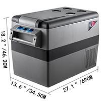 menor refrigerador venda por atacado-MATERIAL Compressor Portátil Pequeno Refrigerador Refrigerador Freezer Casa E Carro Geladeira Veicular 45L
