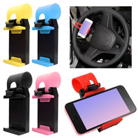 Wholesale steering phone holder resale online - Auto Accessories Multi function Car Phone Holder Hanging Button Car Steering Wheel Mobile Phone Stand Mobile Stand