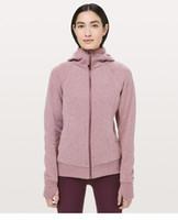 Wholesale winter gym clothes for sale - Group buy Women Scuba Hoodie Clothes Yoga Sports Long Sleeve T Shirts Lu u emon Gym Shirts