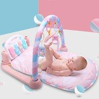 hafif paspaslar toptan satış-Bebek Oyun Mat Bebek GymToys 0-12 Ay Yumuşak Aydınlatma Çıngıraklar Müzikli Oyuncaklar Bebekler Brinquedos Için Piyano Spor Salonu