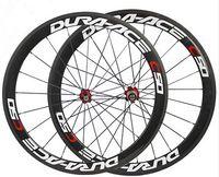 ingrosso ceramica stradale-700C carbon bike copertoncino ruote basalto freno superficie bici da strada wheelset 50mm mozzo in ceramica