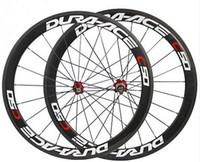 12 inçlik bisiklet jantları toptan satış-700C karbon bisiklet kattığı jantlar bazalt fren yüzeyi yol bisiklet tekerlek 50mm seramik hub