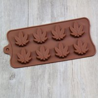 Wholesale rubber ice mold resale online - Maple leaf silicone candy mold trays for chocolate cupcake toppers gummies ice soap butter molds small brownies or party novelty gift