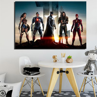 Wholesale hd landscape painting images resale online - Justice League Movie Canvas Painting HD Wall Picture Poster And Print Decorative posters image Home Decor