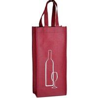 bolsas de regalo de vino de tela al por mayor-Bolsa de almacenamiento portátil de tela no tejida del vino rojo para una / botellas dobles Paquete de vino Fiesta de regalo Bolsos de embalaje 150 unids