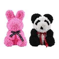 Wholesale present gift doll resale online - Simulation Rose Panda Rose Doll Toys Valentine s Day Present Handmade PE Used For Decoration Birthday Love Gifts