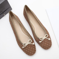 Wholesale ballerina bows resale online - 2019 Women Shoes Square Toe Ballerinas For Woman Bow Knot Casual Female Sneakers Soft Shallow Mouth Dress Ballet Butterfly