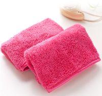 para toallitas al por mayor-DROP nave 40 * 18 cm Súper Suave Removedor de Maquillaje Toalla Reutilizable Toalla Borrador Toallitas de Limpieza de Alta Calidad No Necesita Aceite Limpiador