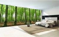 pano de pintura de árvore venda por atacado-3d quarto papel de parede pano personalizado foto Primitiva floresta grande árvore pintura de paisagem TV papel de parede para paredes 3 d impressão de tecido de parede coberta