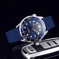 marcas suizas relojes deportivos al por mayor-Reloj de lujo de calidad superior sea master 007 james para hombre relojes estilo ocho 42 mm relojes de dial movimiento automático reloj masculino