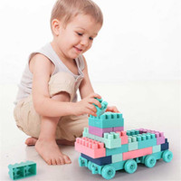 Wholesale block assembly puzzle toy for sale - Group buy 400pcs puzzle block assembly kids toy granular blocks with storage box children s educational For Children Duplo Bricks Baby Gifts
