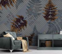 Wholesale luxury gold wallpaper resale online - Custom fashion wallpaper geometric gold lines modern minimalistic luxury abstract background wall wallpaper behang