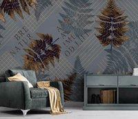 luxus-gold-tapete großhandel-Geometrisches Gold der kundenspezifischen Modetapete zeichnet modernen minimalistic abstrakten Hintergrundwandtapete Bhang