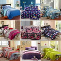 Wholesale beds queen pink online - Reactive Printing Bedding Set duvet cover set Bed linen Sheet Bedding Home Textile with