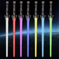 parlak kılıçlar toptan satış-Yeni Yıldız Savaşları Uzay geri çekilebilir Lazer Kılıç Roman Işın kılıcı bir-arada iki ve Benzersiz Oyuncak Aydınlık Oyuncak sopa