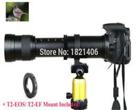 teleobjetivo de cámara freeshipping al por mayor-Envío gratuito Nuevo 420-800mm F / 8.3-16 Súper teleobjetivo Manual Zoom + T2 Adaptador de montaje para cámara Nikon de Canon