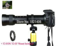 câmera de telefoto freeshipping venda por atacado-Freeshipping novo 420-800mm f / 8.3-16 lente super-telefoto zoom manual + adaptador de montagem T2 para canon nikon camera