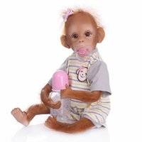 Wholesale hottest new baby products resale online - New Cute Artificial Monkey Baby Doll Hot Niche Products High Profit